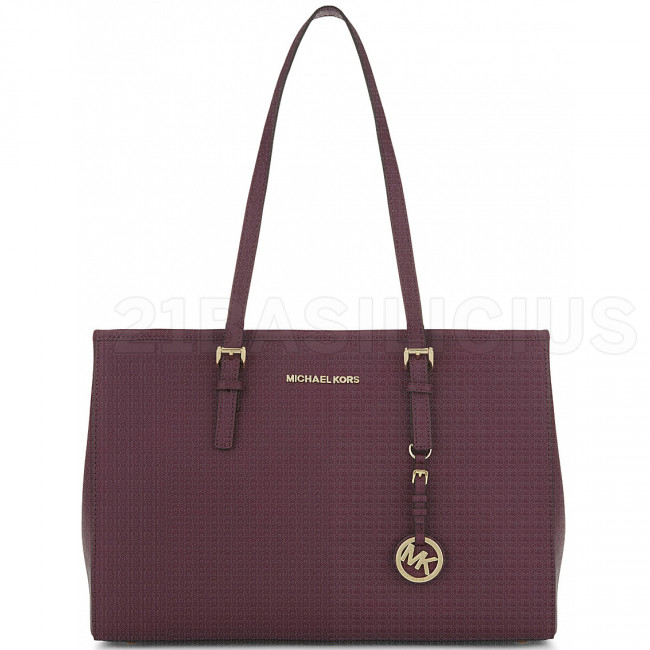 SHOPPING MEDIA TOT JET SET TRAVEL IN PELLE SAFFIANO 30T3GTVT7L633 MICHAEL KORS