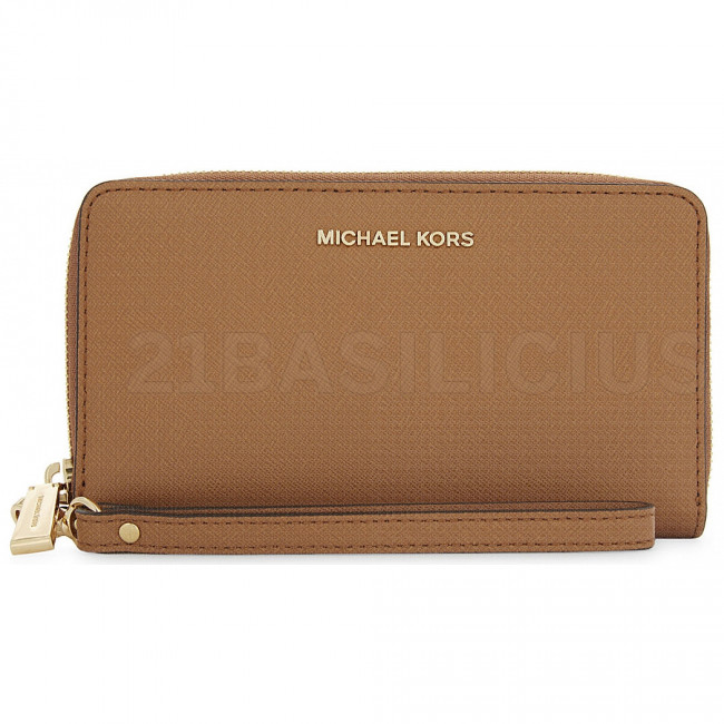 PORTAFOGLI ZIP MEDIO JET SET TRAVEL IN PELLE SAFFIANO 32H4GTVE9L230 MICHAEL KORS