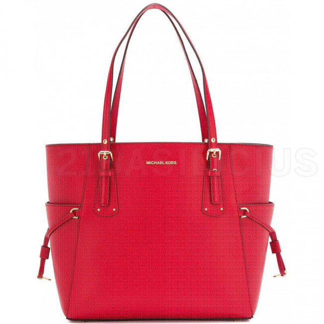 SHOPPING MEDIA TOTE VOYAGER IN PELLE A GRANA INCROCIATA 30H7GV6T9L204 MICHAEL KORS