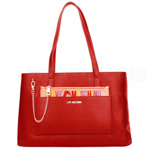 SHOPPING BAG PU JC4276PP06KK0500 LOVE MOSCHINO