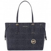 SHOPPING MEDIA TOTE VOYAGER IN PELLE A GRANA INCROCIATA 30H7GV6T8L414 MICHAEL KORS
